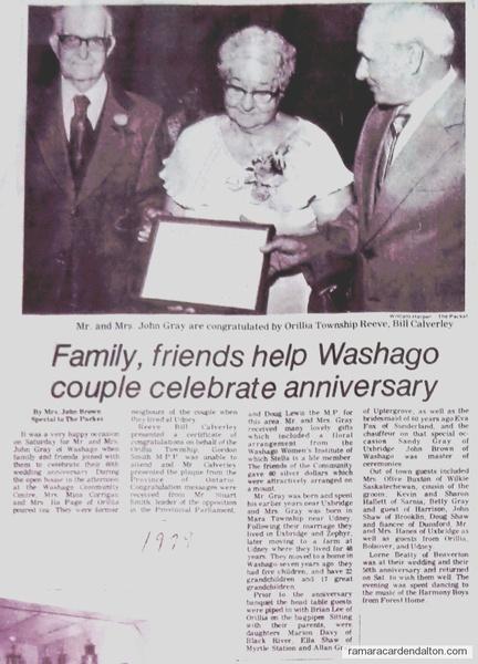 Mr. & Mrs. John Gray --60th anniversary