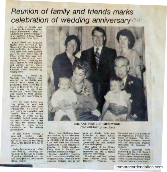 Elmer Wood and Katheleen Martin --60th anniversary
