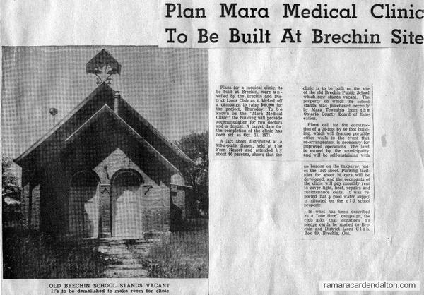 Brechin School---Medical Clinic