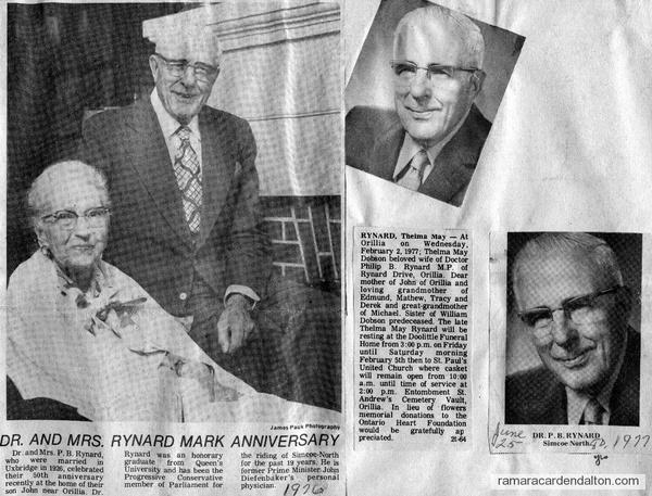 Dr. & Mrs. Rynard-1976-77