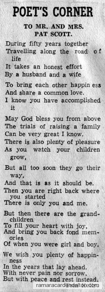 Poem by Tom Kelly