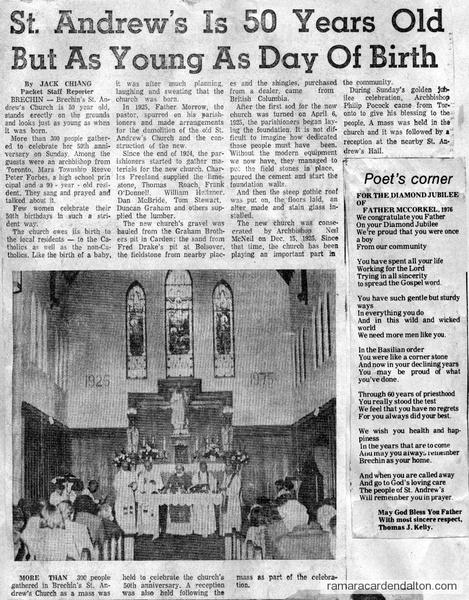 St. Andrew's 50th