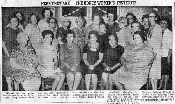 Udney Women's Institute--Oct. 24, 1970