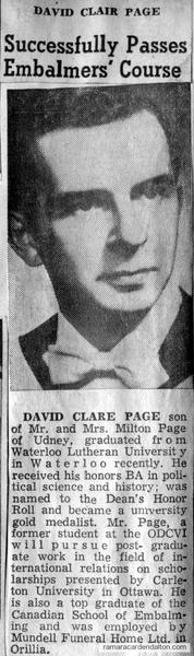 David Clare Page
