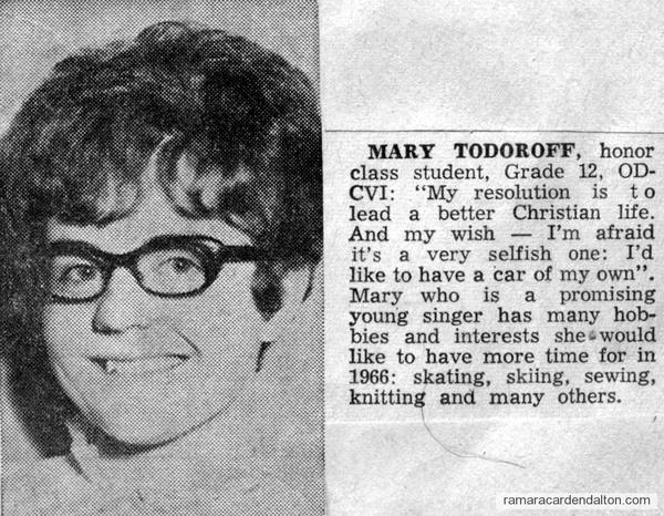 Mary Todoroff