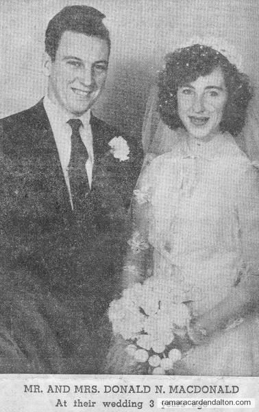 Mr. &  Mrs. Donald MacDonald