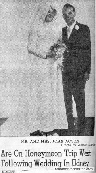 Mr. &  Mrs. John Acton