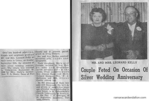 Mr. &  Mrs. Leonard Kelly-25th Anniversary