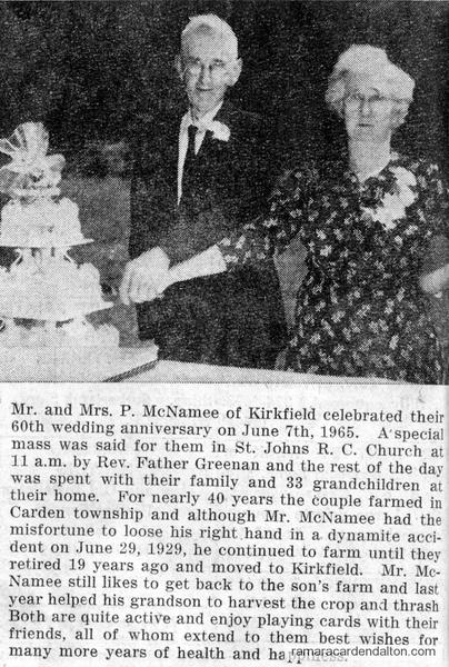 Mr. &  Mrs. P. McNamee