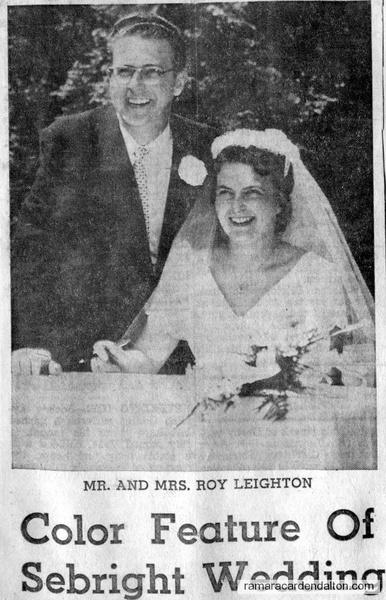 Mr. &  Mrs. Roy Leighton