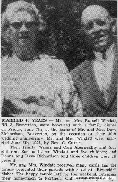 Mr. &  Mrs. Russell Windatt-40th Anniversary