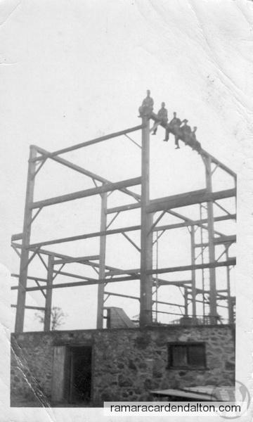 Jack Murphy's barn raising 1950