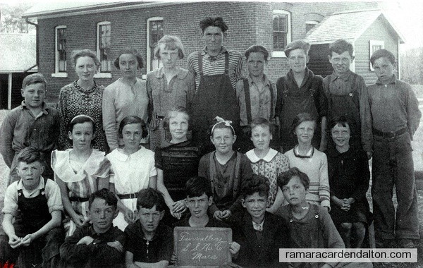 S.S. #6. Fairvalley---Class of July 1936