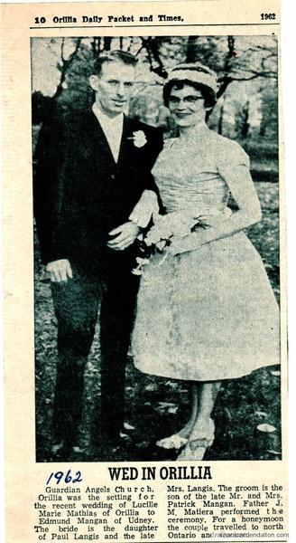Mr. ---Mrs. Edward Mangan