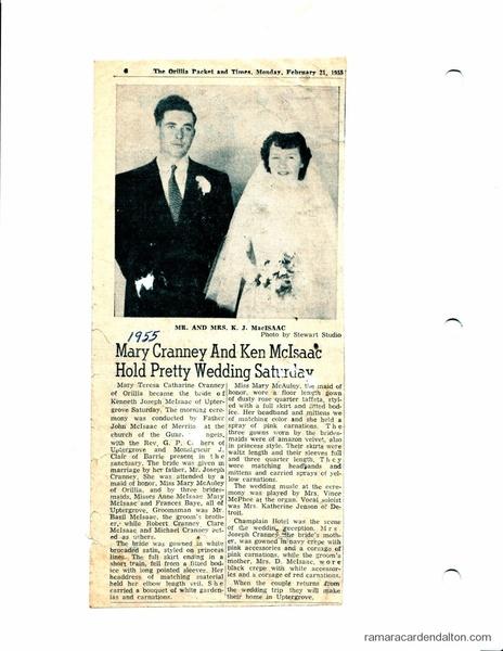 Mr--Mrs Ken McIsaac