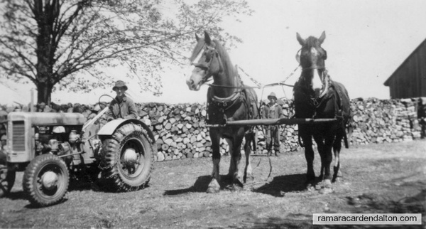 """Bud Murphy with Ted & Dolly - Murphy farm 1945 [ish]"""""""