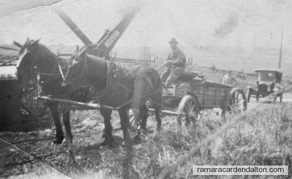Digging hi 12 thru Murphy-Moffett's hill