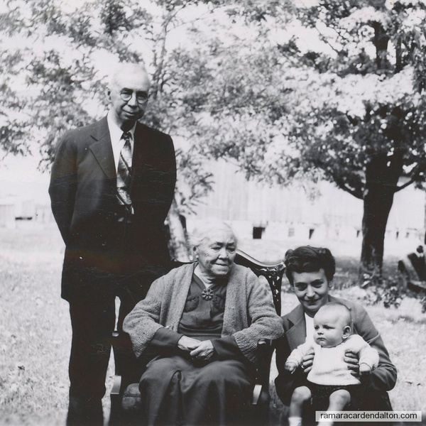 1946 ---4 Generations taken at the Elder farm