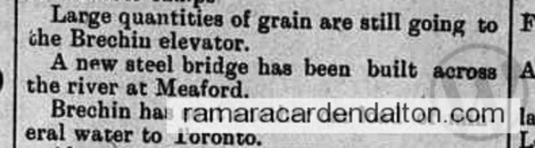 Water and Grain out of Brechin 1895