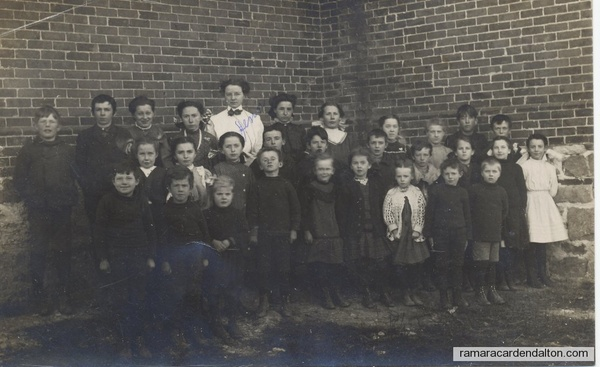 1920ish Grandma Elder with her class 4