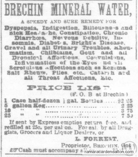 Brechin Mineral Water 1884[2]