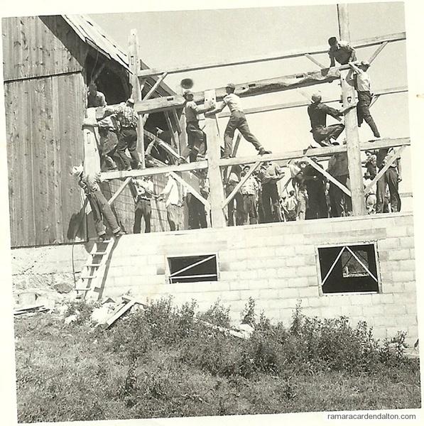 Furniss straw barn  built in June 1954.