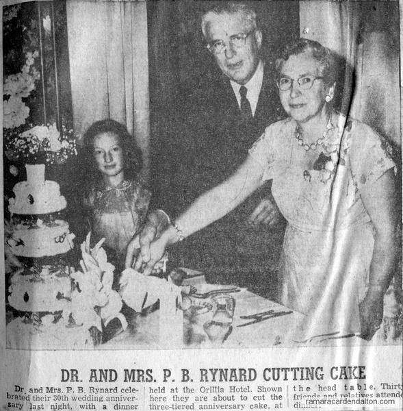 Dr. & Mrs. Rynard-30th Anniversary