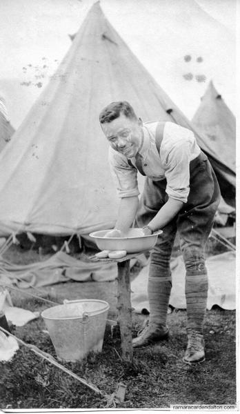 A typical camp scene Seafront, August 1917, Nacie (Lieut I J  (McCorkell- Ignatius)