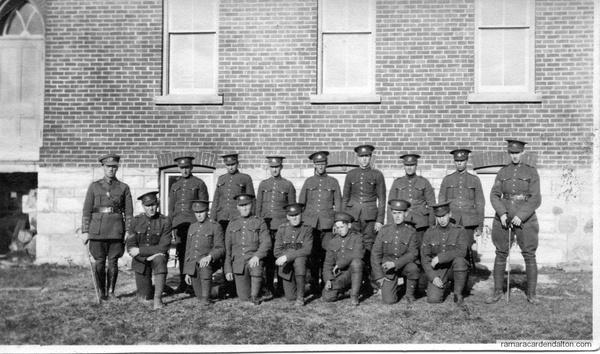 Lieut I J (Ignatius) McCorkell &his platoon, WWI