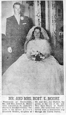 MOFFATT- MOORE, Wedding 20 AUG 1960