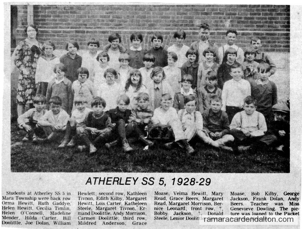 Atherley S. S. #5, 1928-29