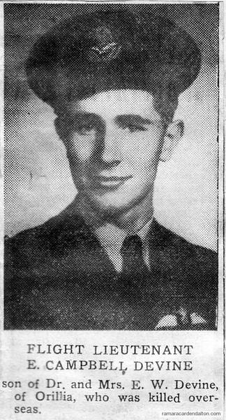 Flight Lieutenant E. Campbell Devine