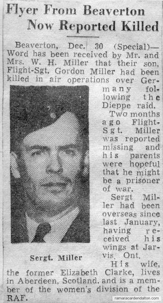 Flight Sgt. Gordon Miller