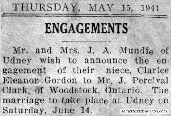 Gordon-Clark engagement