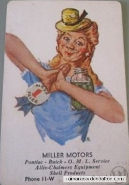 miller motors brechin playing cards