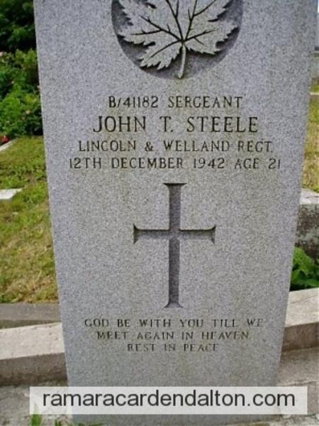 Sergeant John Thomas STEELE
