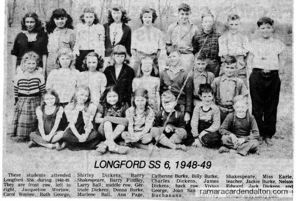S.S.#6, Longford, 1948-49