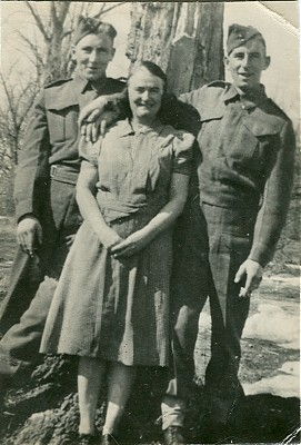 STEELE  brothers John and Donald, with Dorthory Moase
