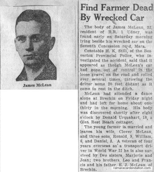 James McLean Accident
