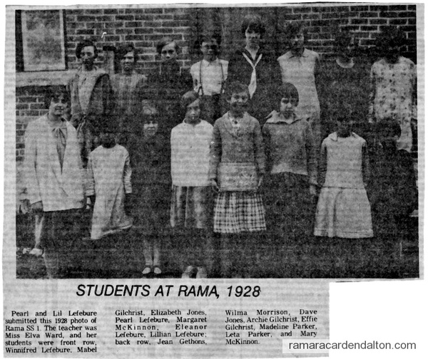 S.S. #1, Rama, Class of 1928