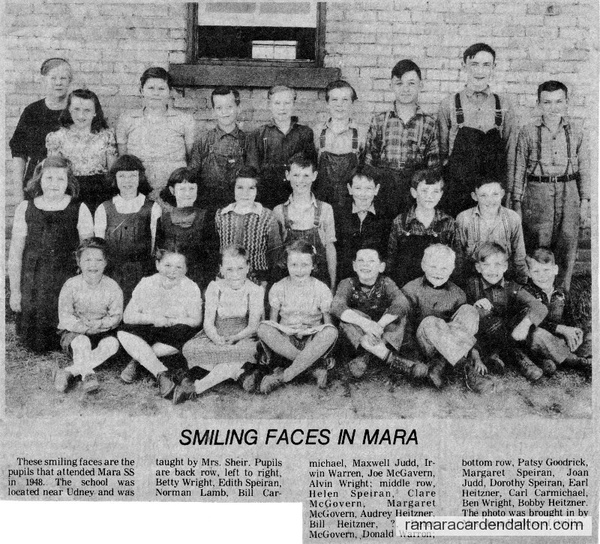 S.S. #8, Lawrence School, Udney, Class of 1948