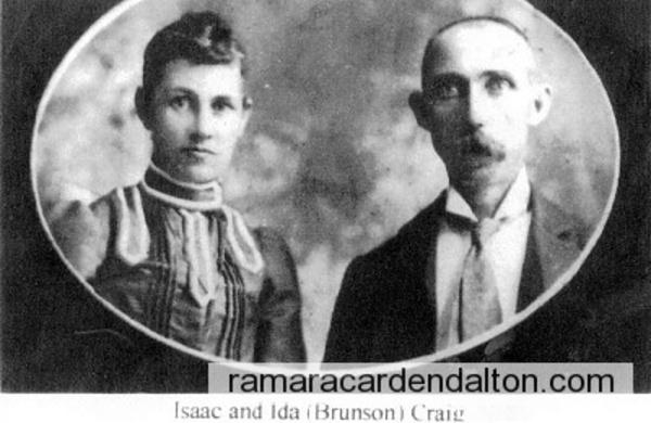 Ida BRUNSON & Isaac CRAIG
