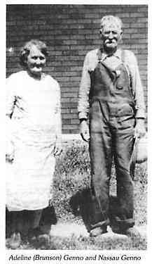 Adeline BRUNSON (1876-1949) & Wm. Nassua GENNO (1870-1954)