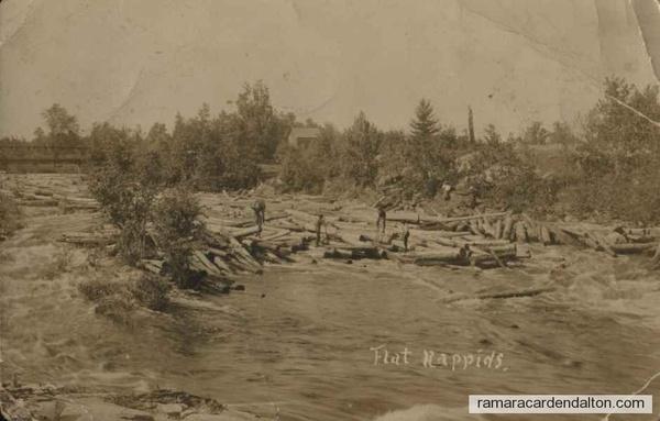 Flat Rapids , circa early 1900's