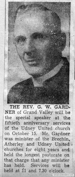 Rev. G. W. Gardner