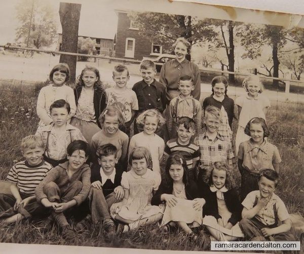 atherley #5 School 1953 with Mrs Jackie Wainman Teacher