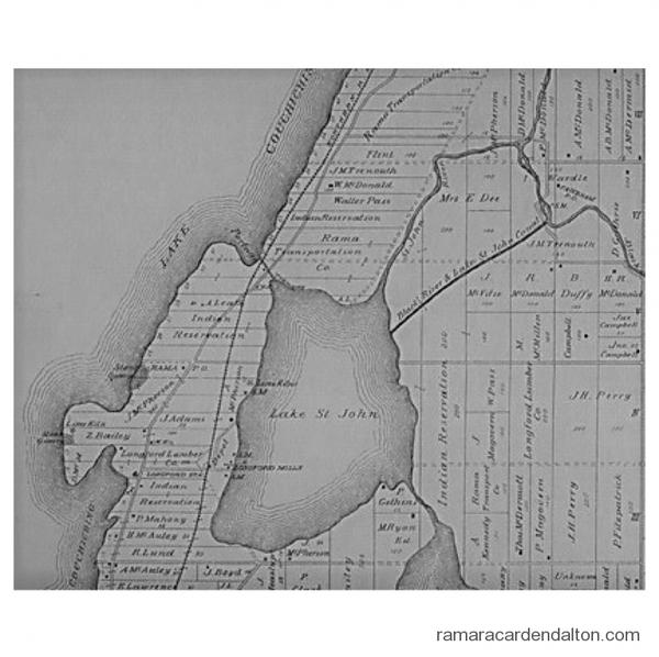 Map --Log canal --Black River to Lake St John
