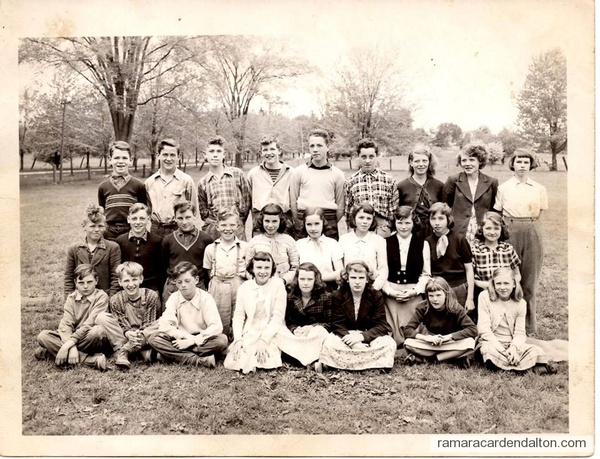 Uptergrove 1951-1952 Senior Class
