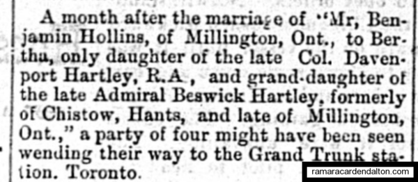 Hollins marriage 1883