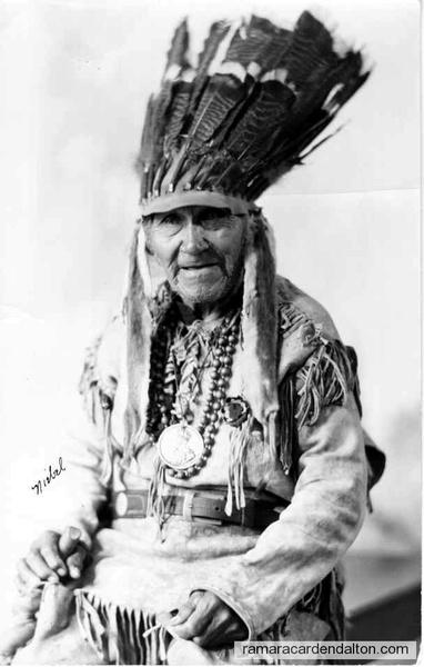 Chief John Bigwin wearing George V medal